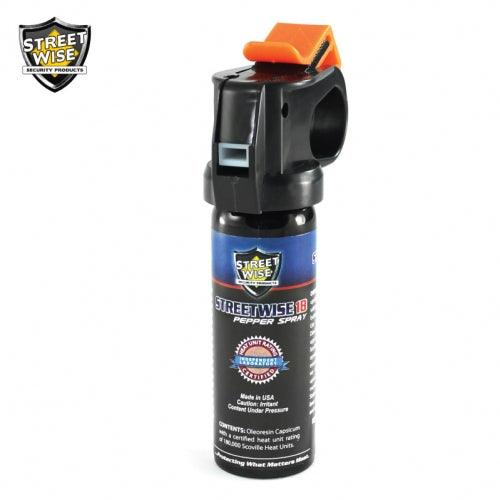 Small in size powerful in strength the Fire-master pepper spray for women and men self defense protection.