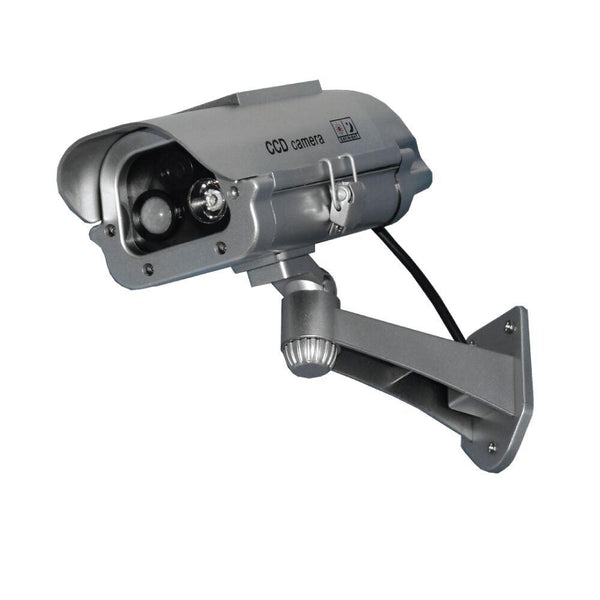 "Streetwise Security 7"" IR Dummy Camera w/ Solar Powered Motion Strobe Light offers effective property protection as looks real as if a real security camera."