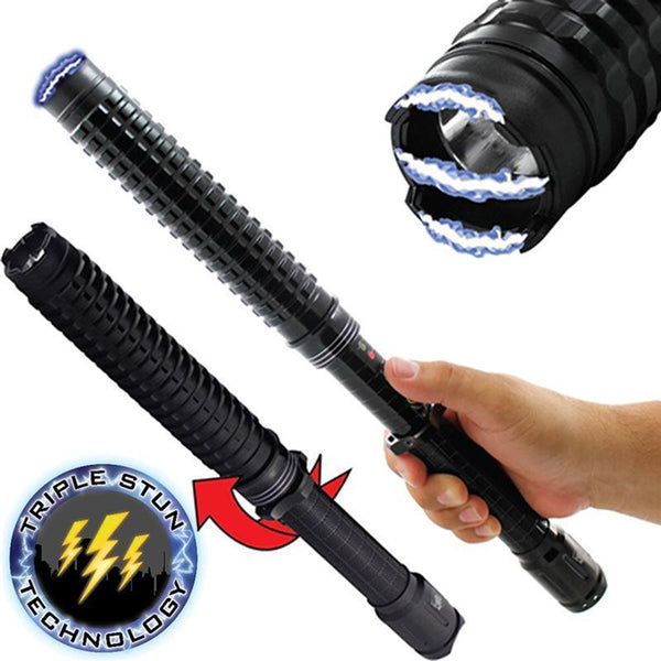 Stun baton excellent personal protection against dog attacks, bites, other animals and self defense if needed.