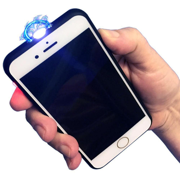 Disguised cell phone that is a stun gun with flashlight offers effective personal safety and self defense protection.