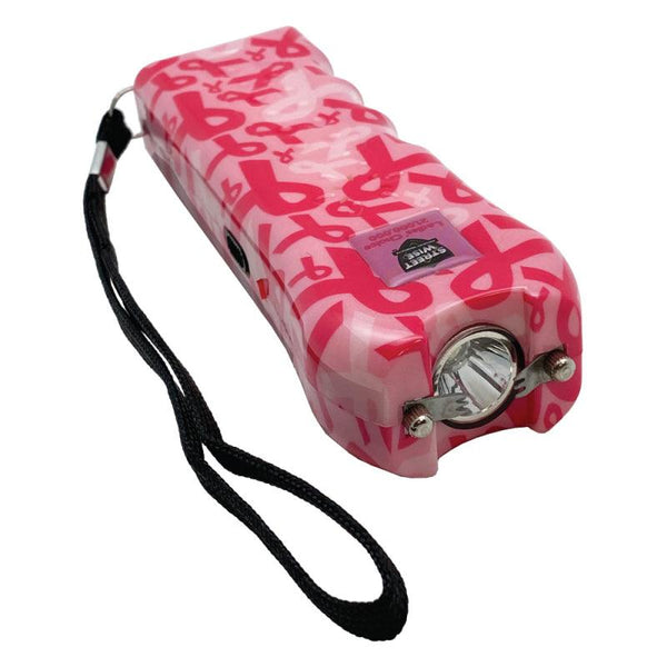 The Streetwise Ladies' Choice 21,000,000 stun gun pink ribbon design for women self defense protection.