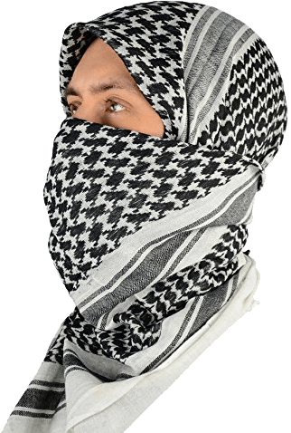 Shemagh (Head & Face Protection) Black White