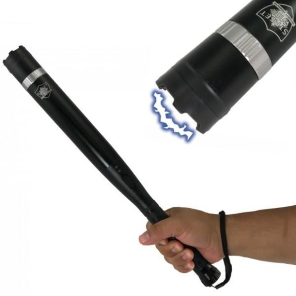 Triple defender stun gun baton offers personal protection for women and men self defense.