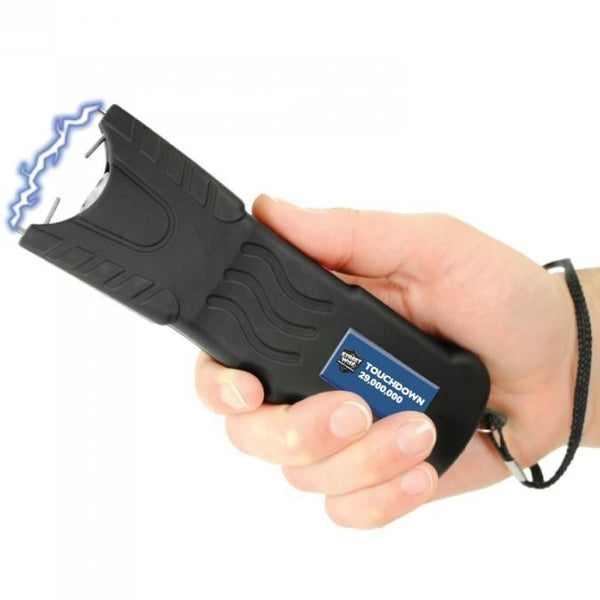 Powerful stun gun with safety disable pin for self defense protection.