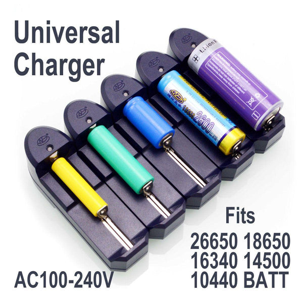 Universal battery charger for laser pointer batteries.