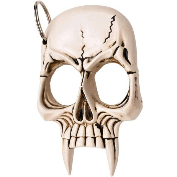 Vampire Skull Self Defense Keychain White
