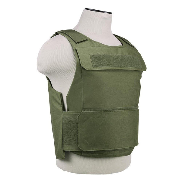 The Vism discreet plate carrier with armor panel pocket sized  8 inches x 10 inches.
