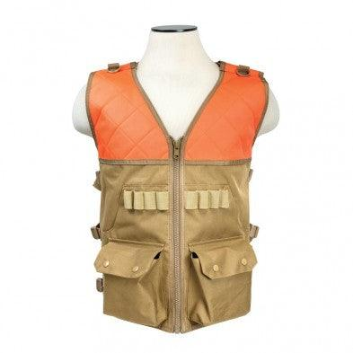 Vism Orange and Tan Hunting Vest includes Two Front Pockets