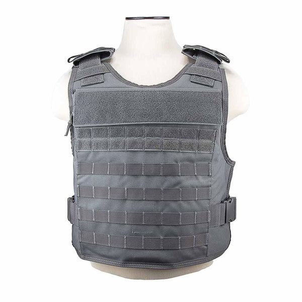 The Vism plate carrier with external hard plate pockets one size med - x-large color urban gray.