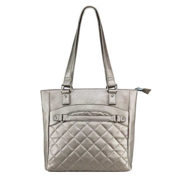 Quilted CCW Tote Gray
