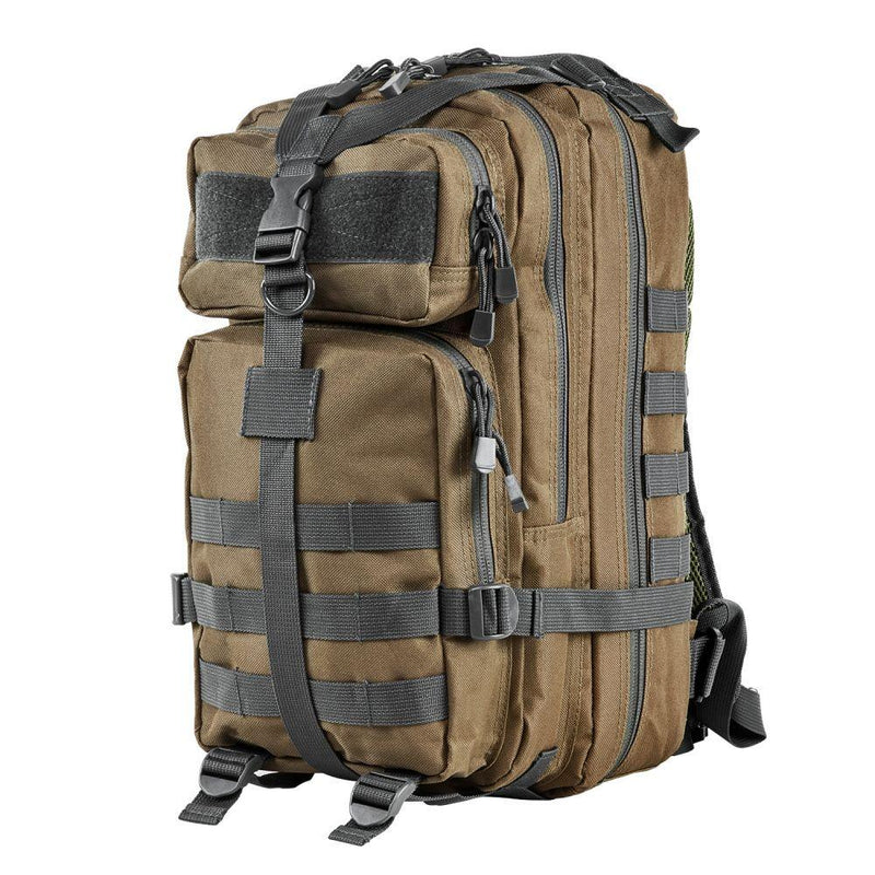 Small Backpack Tan with Urban Gray Trim