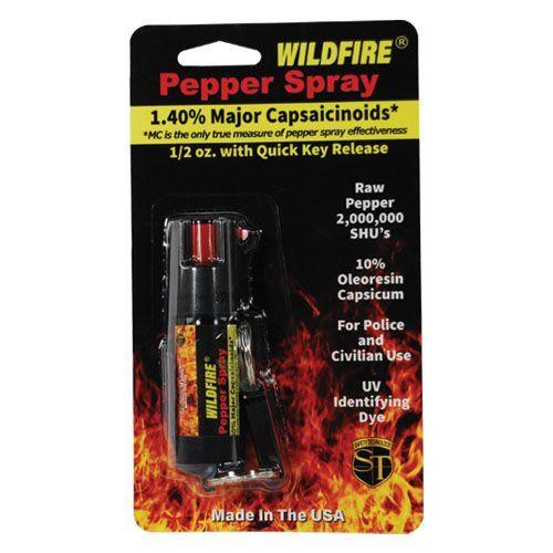 Wildfire pepper sprat with belt clip and key-chain option for women and men personal protection.