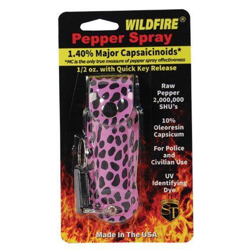 Fashion design Wildfire cheetah pink purple pepper spray options,