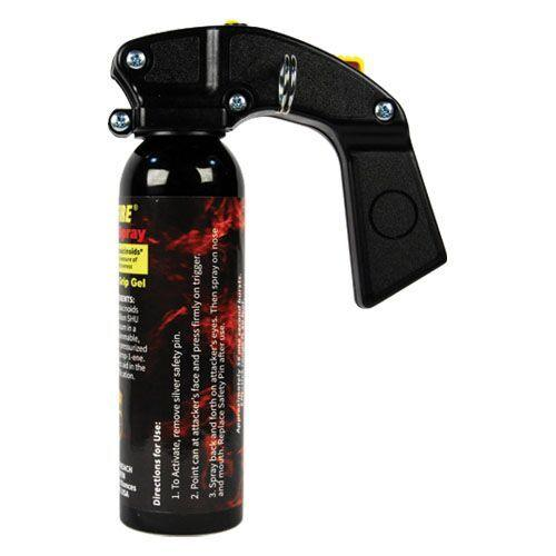 Pistol grip Wildfire hot pepper sprays for law enforcement, crowd control and civilian use.
