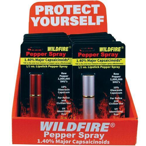 12) Mixed Colors Wildfire Lipstick Spray with Counter Display