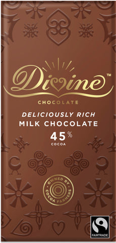 Divine High Cocoa Milk Chocolate 45% (90g)