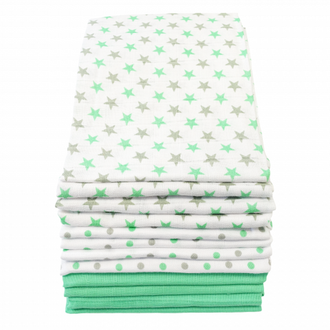 MuslinZ Muslin Squares Patterned Cotton