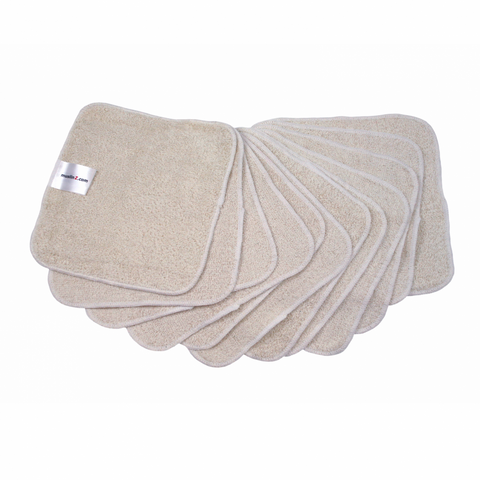 MuslinZ 20cm Bamboo/Cotton Wipes