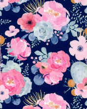 Load image into Gallery viewer, Pastel Flowers Navy TFP-PFL NVY