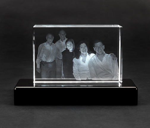 3D Laser Etched Crystal