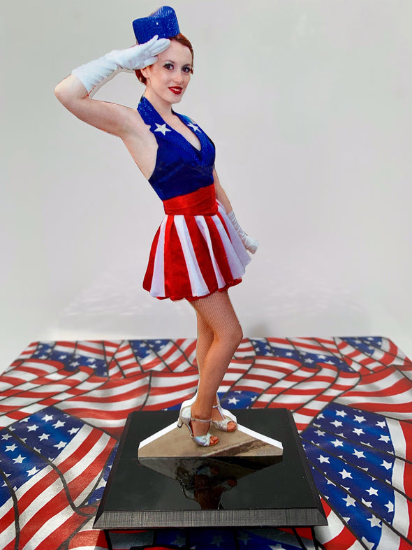 Salute to Captain America Photo Sculpture