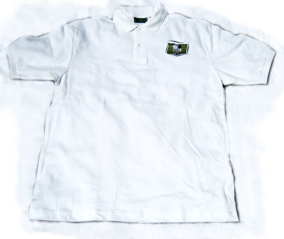 White Collared Photo Polo Shirt - Men's & Women's