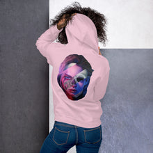 Load image into Gallery viewer, Unisex Hoodie WTF is Happening?! Skull/Face White, Black, Blue or Pink Hoodie