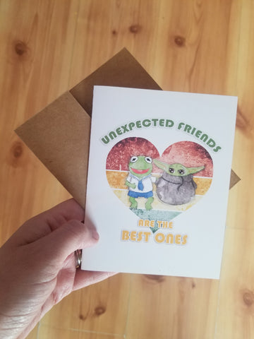 Unexpected friends cards