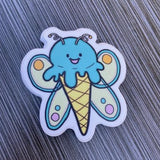 Butterfly Ice Cream Vinyl Sticker