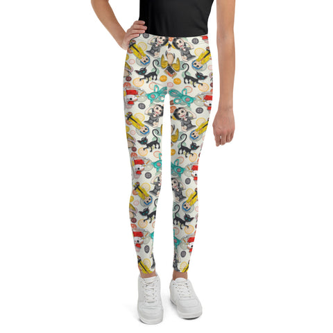 Buttons Youth Leggings