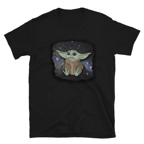Little green Alien and Stars Short-Sleeve Unisex T-Shirt