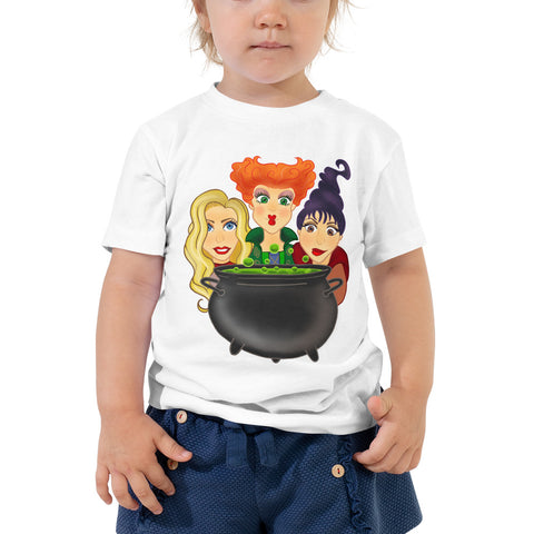 Three Witches Halloween Toddler Short Sleeve Tee