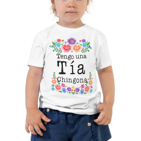 Tengo una Tia Chingona Toddler Short Sleeve Tee