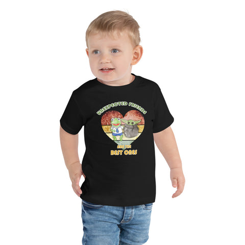 Toddler Short Sleeve Tee Unexpected friends