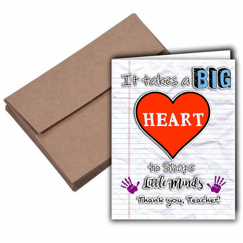 Teachers Have a Big Heart Card