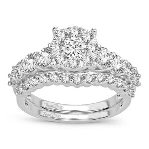 14K White Gold 2.00 Carat Women Best Seller Diamond Bridal Set Ring