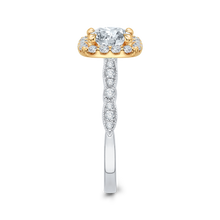 Load image into Gallery viewer, Two Tone Gold Vintage Diamond Engagement Ring CARIZZA CA0042E-37WY