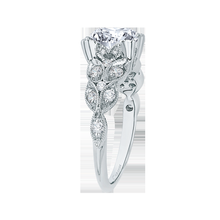 Load image into Gallery viewer, Semi-Mount Diamond Floral Engagement Ring CARIZZA CA0043E-37W