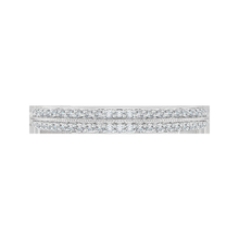 Load image into Gallery viewer, Euro Shank Diamond Wedding Band CARIZZA CA0045B-37W