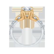 Load image into Gallery viewer, Floral Diamond Engagement Ring with Two Tone Gold CARIZZA CA0049E-37WY