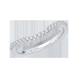 Euro Shank Diamond Wedding Band CARIZZA CA0057B-37W