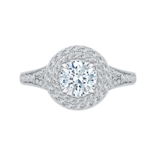 Load image into Gallery viewer, Split Shank Round Diamond Engagement Ring CARIZZA CA0062E-37WP