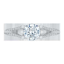 Load image into Gallery viewer, Split Shank Round Diamond Engagement Ring CARIZZA CA0066E-37W