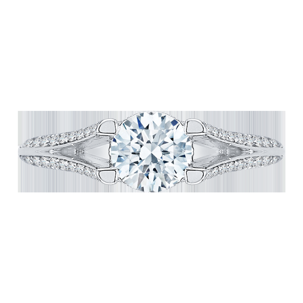 Split Shank Round Diamond Engagement Ring CARIZZA CA0066E-37W