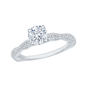Criss-Cross Shank Diamond Engagement Ring CARIZZA CA0088E-37W