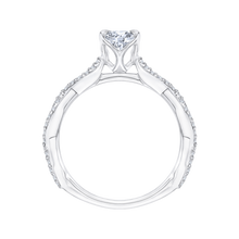 Load image into Gallery viewer, Criss-Cross Shank Diamond Engagement Ring CARIZZA CA0088E-37W