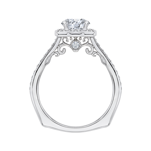 Semi-Mount Round Diamond Halo Engagement Ring CARIZZA CA0091E-37W