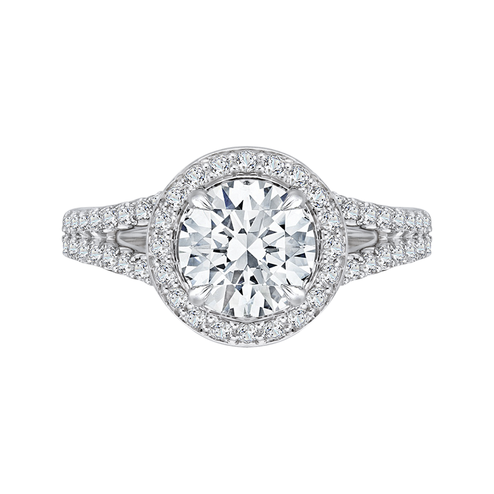 Diamond Engagement Ring with Split Shank CARIZZA CA0093E-37W