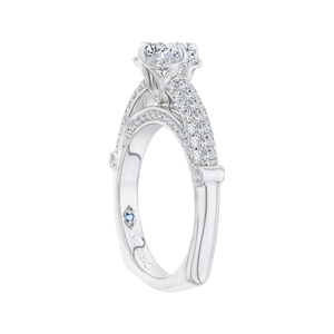 Three Row Cathedral Style Engagement Ring CARIZZA CA0099E-37W