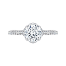Load image into Gallery viewer, Floral Engagement Ring with Euro Shank CARIZZA CA0102E-37W